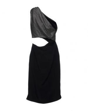Платье до колена TAMARA MELLON. Цвет: черный