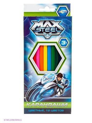 Карандаши цветные Max Steel 12 цветов Centrum. Цвет: синий