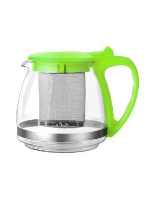 Чайники заварочные Bekker. Цвет: светло-зеленый, прозрачный