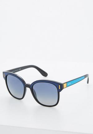 Очки солнцезащитные Prada. Цвет: синий
