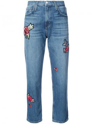 Декорированные джинсы бойфренда Joie. Цвет: синий