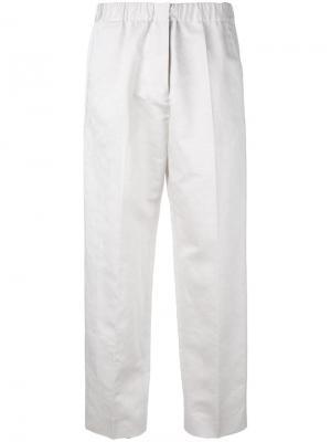 Укороченные брюки Coleman Jil Sander. Цвет: серый