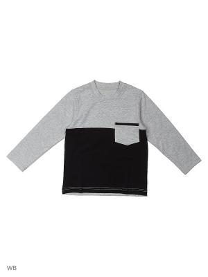 Лонгслив ИП Комарова Е. П.. Цвет: серый, черный