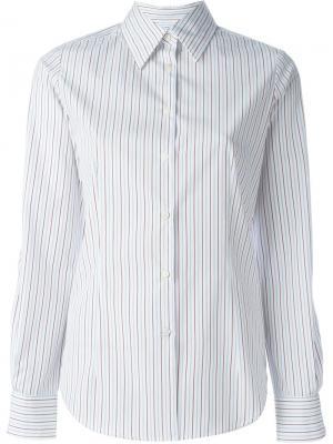 Рубашка в полоску Alberto Biani. Цвет: белый