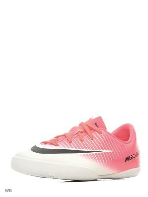 Кеды JR MERCURIALX VAPOR XI IC Nike. Цвет: розовый, белый