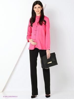 Блузка MammySize. Цвет: розовый