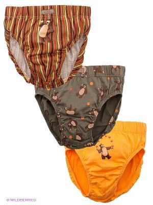 Трусы 3 шт. Lowry. Цвет: серый, фиолетовый, оранжевый