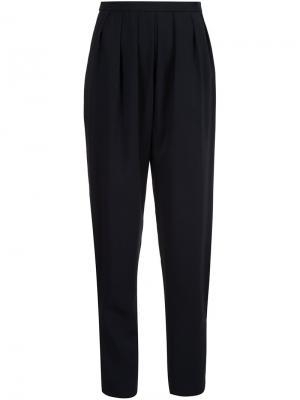 Плиссированные брюки Rosetta Getty. Цвет: чёрный