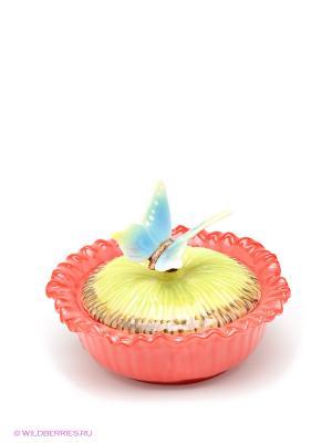 Шкатулка Маки Pavone. Цвет: красный, зеленый, коричневый, голубой
