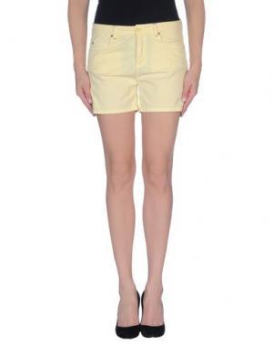 Повседневные шорты SOALLURE. Цвет: светло-желтый