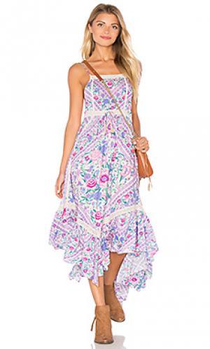 Платье миди babushka Spell & The Gypsy Collective. Цвет: бледно-лиловый