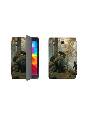 Чехол-книжка Tim для Samsung Galaxy Tab S2 9.7. Утро в сосновом бору With Love. Moscow. Цвет: серо-коричневый