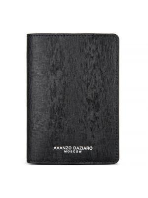 Обложка для паспорта сафьяно Avanzo Daziaro. Цвет: черный