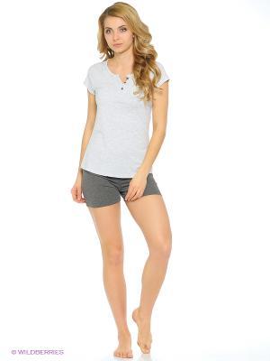 Комплект одежды Vienetta Secret. Цвет: серый меланж