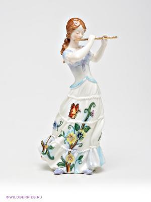 Девушка с флейтой Pavone. Цвет: белый, бежевый, коричневый