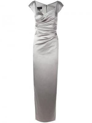 Платье Kortney Talbot Runhof. Цвет: серый