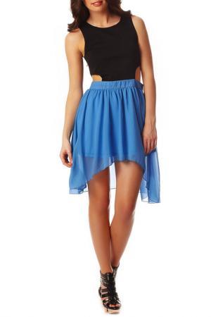 Платье Rare london. Цвет: blue and black