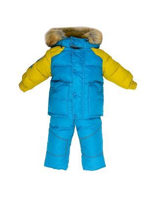 Комплект (куртка+полукомбинезон) Бимоша. Цвет: салатовый