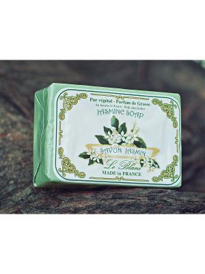 Косметическое мыло в картонной коробке Жасмин 100гр. Le Blanc.. Цвет: зеленый