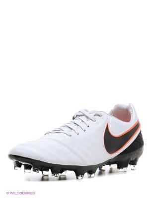 Бутсы TIEMPO LEGACY II FG Nike. Цвет: черный, белый
