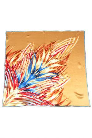 Платок F.FRANTELLI. Цвет: красный, синий на песочном фон