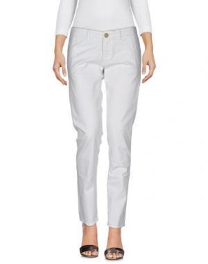 Джинсовые брюки MONOCROM. Цвет: светло-серый