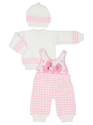 Комплект одежды M-BABY. Цвет: белый, розовый