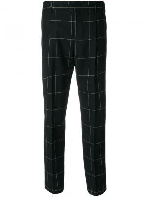 Укороченные брюки в клетку Pt01. Цвет: чёрный