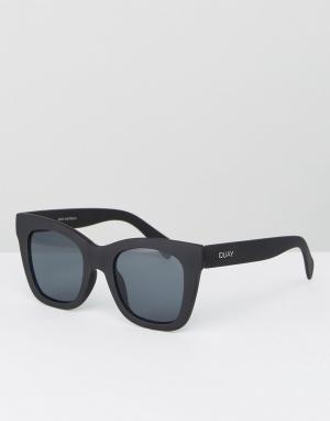 Quay Australia Черные солнцезащитные очки «кошачий глаз» After Hours. Цвет: черный
