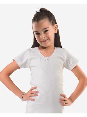 Футболка Oztas kids' underwear. Цвет: белый