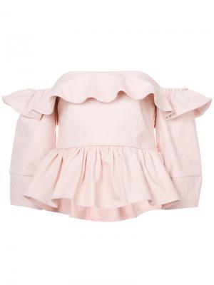 Блузка с открытыми плечами Ventana Apiece Apart. Цвет: розовый и фиолетовый