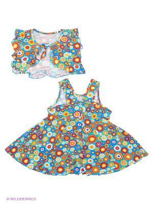 Комплект одежды Три ползунка. Цвет: голубой, желтый