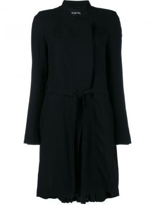 Пальто со складками Ann Demeulemeester. Цвет: чёрный