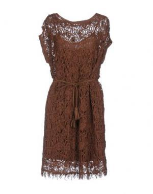 Короткое платье KOOKAI. Цвет: коричневый