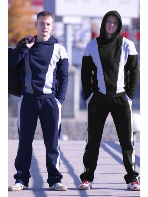 Спортивный костюм CROSS sport. Цвет: черный
