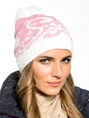 Шапка FOMAS. Цвет: розовый, белый