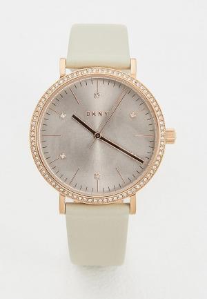 Часы DKNY. Цвет: бежевый