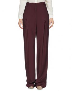 Повседневные брюки STEFANEL. Цвет: баклажанный