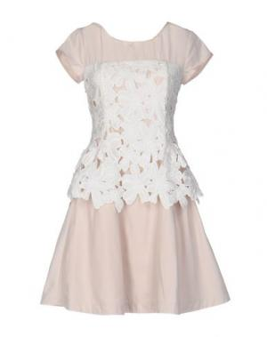 Короткое платье PRINCESSE METROPOLITAINE. Цвет: бежевый