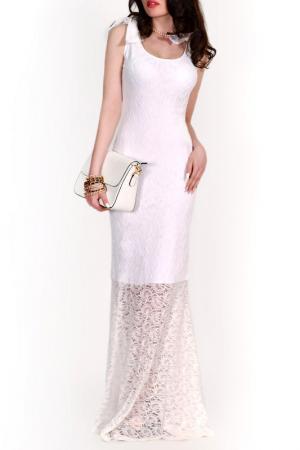 Платье FRANCESCA LUCINI. Цвет: белое кружево, белый