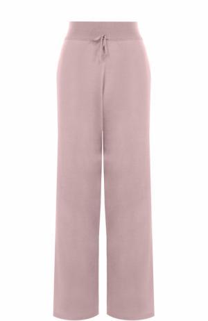 Вязаные брюки из смеси кашемира и шелка Cruciani. Цвет: розовый