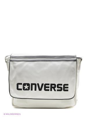 Сумка с плечевым ремнем Flap Messenger PU Converse. Цвет: белый