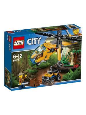 City Jungle Explorer Грузовой вертолёт исследователей джунглей 60158 LEGO. Цвет: синий