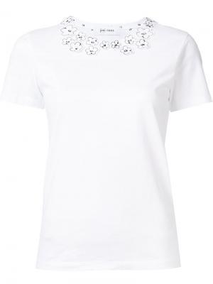 Flower applique T-shirt Jimi Roos. Цвет: белый