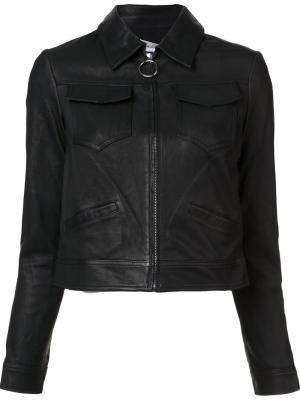 Кожаная куртка на молнии A.L.C.. Цвет: чёрный