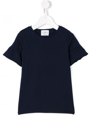 Ruffled sleeve T-shirt Le Petit Coco. Цвет: синий