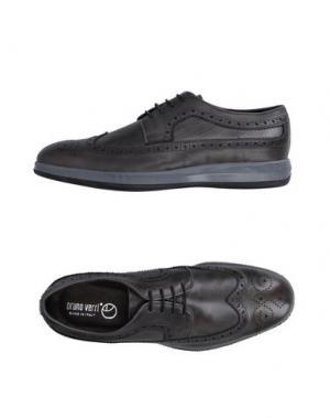 Обувь на шнурках BRUNO VERRI. Цвет: стальной серый