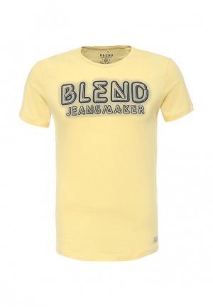 Футболка Blend. Цвет: желтый