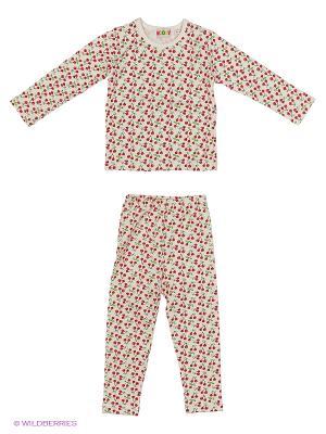 Комплект Kidly. Цвет: белый, зеленый, красный