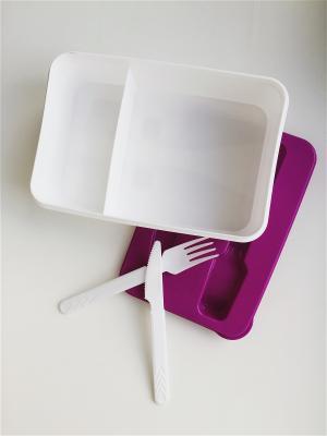 Контейнер для обеда со столовыми приборами (227х155х70)(фиолетовый) Альтернатива. Цвет: фиолетовый